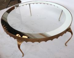 Arturo Pani Scalloped Edge 1950s Brass Coffee Table Attributed to Arturo Pani - 328089