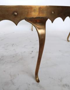Arturo Pani Scalloped Edge 1950s Brass Coffee Table Attributed To Arturo  Pani   328090