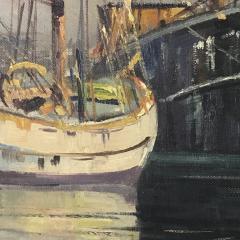 Arup Jensen Jensen 1906 1956 Danish Harbor W Sailing 1940s - 1834155
