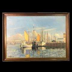 Arup Jensen Jensen 1906 1956 Danish Harbor W Sailing 1940s - 1834158