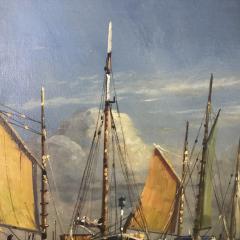 Arup Jensen Jensen 1906 1956 Danish Harbor W Sailing 1940s - 1834160