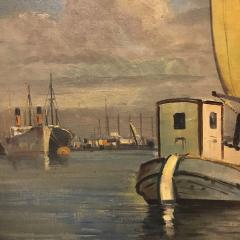 Arup Jensen Jensen 1906 1956 Danish Harbor W Sailing 1940s - 1834161