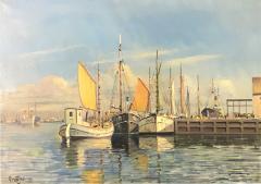 Arup Jensen Jensen 1906 1956 Danish Harbor W Sailing 1940s - 1839480