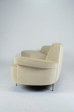 Asymmetrical Curve Back Italian Style Sofa Left Arm - 1198841