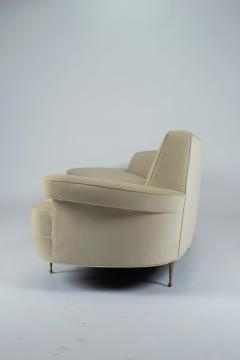Asymmetrical Curve Back Italian Style Sofa Left Arm - 1198843