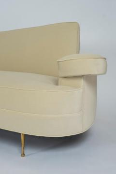 Asymmetrical Curve Back Italian Style Sofa Left Arm - 1198844