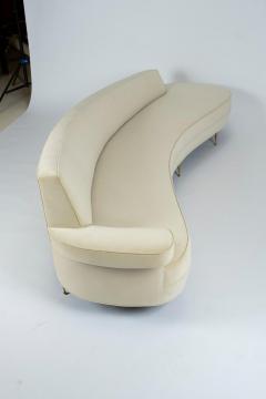 Asymmetrical Curve Back Italian Style Sofa Right Arm - 1198832