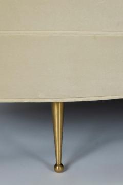 Asymmetrical Curve Back Italian Style Sofa Right Arm - 1198833