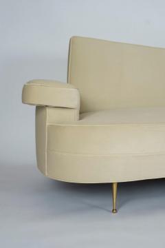 Asymmetrical Curve Back Italian Style Sofa Right Arm - 1198834