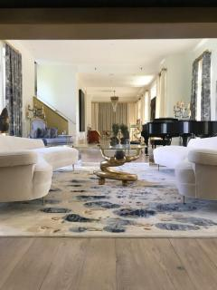 Asymmetrical Curve Back Italian Style Sofa Right Arm - 1198837