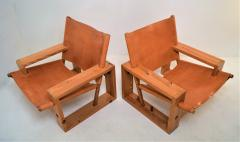 Ate van Apeldoorn Set of leather pine lounge chairs by Ate van Apeldoorn  - 1162936
