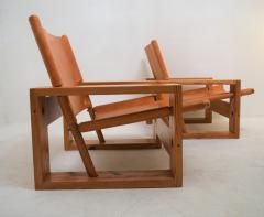 Ate van Apeldoorn Set of leather pine lounge chairs by Ate van Apeldoorn  - 1162940