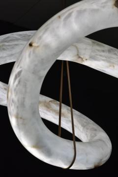 Atelier Alain Ellouz Infinity Alabaster Chandelier by Atelier Alain Ellouz - 1720495