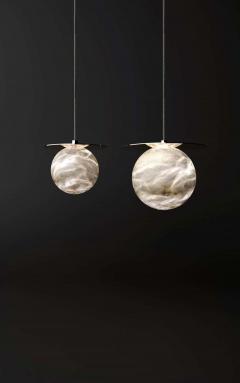 Atelier Alain Ellouz Set of 2 Alabaster Yak Pendant Light by Atelier Alain Ellouz - 1784215