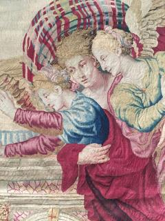 Atelier Faubourg Saint Germain Mid 17th Century antique tapestry Eros bringing the two sisters of Psych  - 954404