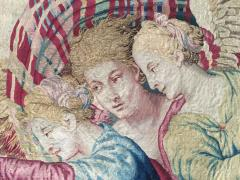 Atelier Faubourg Saint Germain Mid 17th Century antique tapestry Eros bringing the two sisters of Psych  - 954405