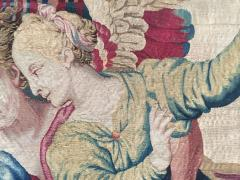 Atelier Faubourg Saint Germain Mid 17th Century antique tapestry Eros bringing the two sisters of Psych  - 954406
