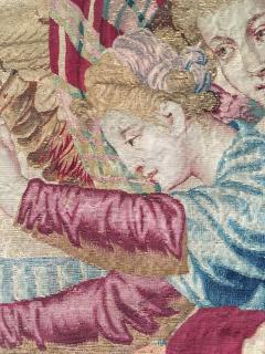 Atelier Faubourg Saint Germain Mid 17th Century antique tapestry Eros bringing the two sisters of Psych  - 954407