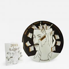 Atelier Fornasetti Barnaba Fornasetti Porcelain Calendar Plate 2013 Number 398 of 700 - 1620655