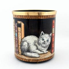 Atelier Fornasetti Fornasetti Metal Waste Paper Can - 1585006