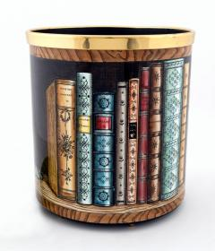 Atelier Fornasetti Fornasetti Metal Waste Paper Can - 1585007