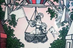 Atelier Fornasetti Mid Century Hollywood Regency Fornasetti Umbrella Stand Hot Air Balloon Motif - 945609