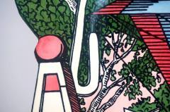Atelier Fornasetti Mid Century Hollywood Regency Fornasetti Umbrella Stand Hot Air Balloon Motif - 945615
