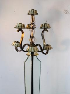Atelier Petitot EXCEPTIONAL FRENCH ART DECO ENAMELED BRASS AND GLASS FLOOR LAMPS - 1178049