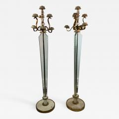 Atelier Petitot EXCEPTIONAL FRENCH ART DECO ENAMELED BRASS AND GLASS FLOOR LAMPS - 1180477