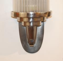 Atelier Petitot Pair of Modernist French Art Deco Wall Lights Attributed to Petitot - 1873833