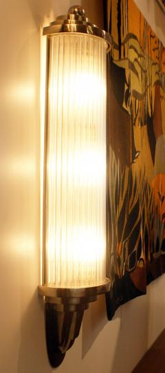 Atelier Petitot Pair of Modernist French Art Deco Wall Lights Attributed to Petitot - 1873836