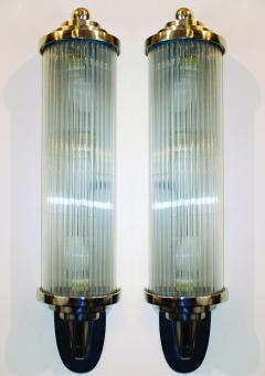 Atelier Petitot Pair of Modernist French Art Deco Wall Lights Attributed to Petitot - 1873849
