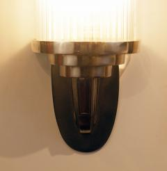 Atelier Petitot Pair of Modernist French Art Deco Wall Lights Attributed to Petitot - 1873852