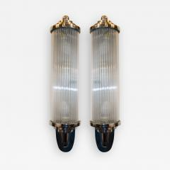 Atelier Petitot Pair of Modernist French Art Deco Wall Lights Attributed to Petitot - 1875669