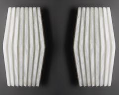Atelier Terrai Bespoke Minimalist Italian Neoclassical White Alabaster Geometric Modern Sconce - 1673535