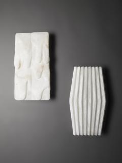 Atelier Terrai Bespoke Minimalist Italian Neoclassical White Alabaster Geometric Modern Sconce - 1673540