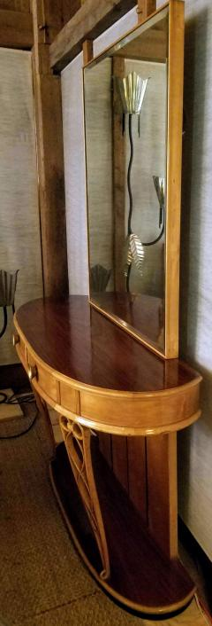 Atilio Fagioli Italian Mirrored Console 1940s Neo Classical Atilio Fagioli Florence Italy - 2073321