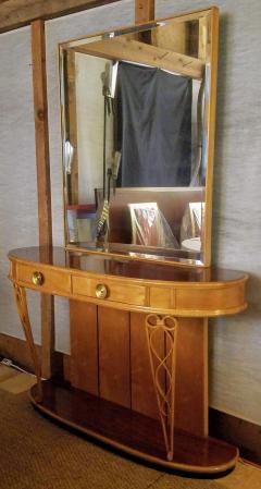 Atilio Fagioli Italian Mirrored Console 1940s Neo Classical Atilio Fagioli Florence Italy - 2073325