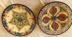 Atlas Showroom A Pair of Hand Painted Large Ceramic Serving or Decorative Plates - 1164548