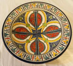 Atlas Showroom A Pair of Hand Painted Large Ceramic Serving or Decorative Plates - 1164550
