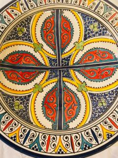 Atlas Showroom A Pair of Hand Painted Large Ceramic Serving or Decorative Plates - 1164551