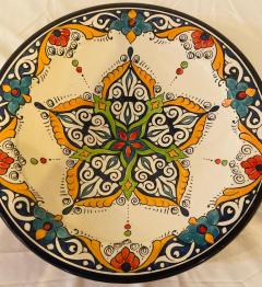 Atlas Showroom A Pair of Hand Painted Large Ceramic Serving or Decorative Plates - 1164553