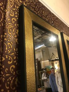 Atlas Showroom A Pair of Mid Century Modern Style Gold Brass Wall or Console or Floor Mirrors - 1018416