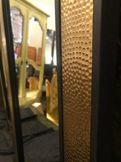 Atlas Showroom A Pair of Mid Century Modern Style Gold Brass Wall or Console or Floor Mirrors - 1018421