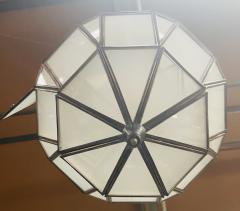 Atlas Showroom Art Deco Style White Milk Glass Handmade Chandelier Pendant Lantern a Pair - 1604600