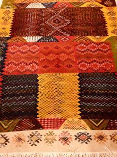 Atlas Showroom Berber Medium Rug Handwoven Wool with Organic Multicolor Dye - 1147893