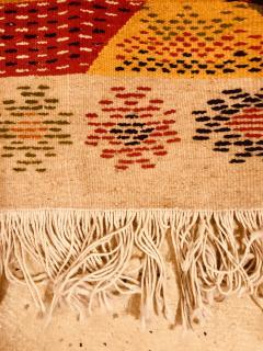Atlas Showroom Berber Medium Rug Handwoven Wool with Organic Multicolor Dye - 1147894