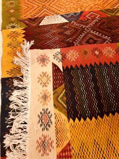 Atlas Showroom Berber Medium Rug Handwoven Wool with Organic Multicolor Dye - 1147904
