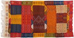 Atlas Showroom Berber Medium Rug Handwoven Wool with Organic Multicolor Dye - 1147939
