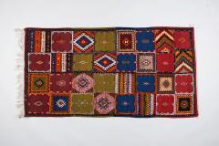 Atlas Showroom Berber Medium Rug Handwoven in Morocco with Polychrome Panels - 1156738